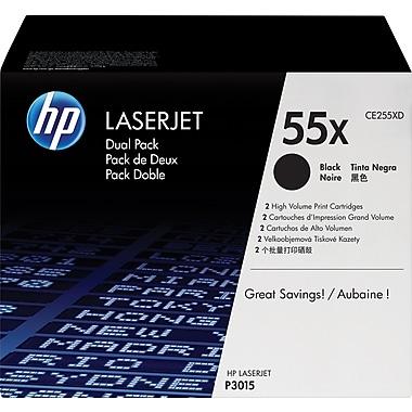HP 55X (CE255XD) Ens. 2 cartouches de toner HP LaserJet noir à rendement élevé d'origine