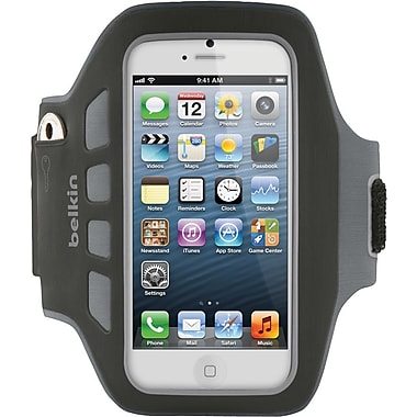 Belkin EaseFit Plus Armband for Apple iPhone 5, Black
