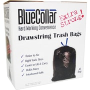 Heritage Blue Collar Trash Bags, Black, 30 Gallon, 40 Bags/Box