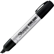 Sharpie® King Size Permanent Markers, Chisel Tip, Black, 12/Pack