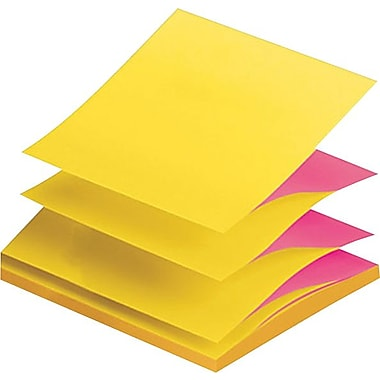 Post-it® Pop-up Alternating Fuchsia and Ultra Notes, 3