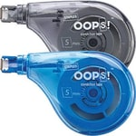 Staples® OOPS! Sidewinder Correction Tape, 2/Pack