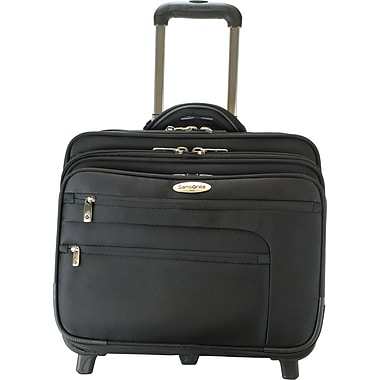 Samsonite Triple Gusset Top Zip Wheeled Portfolio w/Removable Computer S, Black