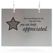 "Baudville® Silver Photo Flip Frame, ""You are Truly Appreciated"""