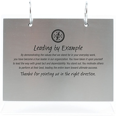 Silver Photo Flip Frame, Leading by Example