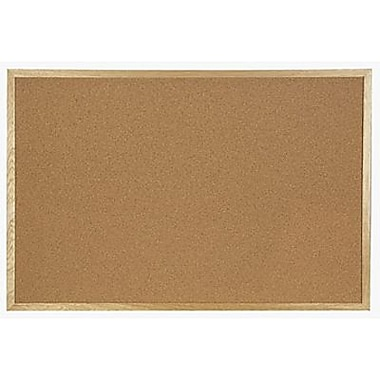 Quartet® Cork Board, Oak Frame, 96