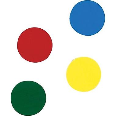 Quartet® - Accessoires pour tableau magnétique, rondelles aimantées de 3/4 po, couleurs variées