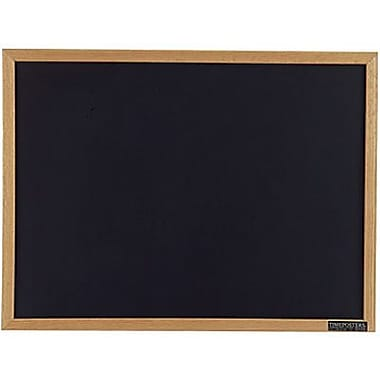 Staples® Black Chalkboard, Oak Frame, 96