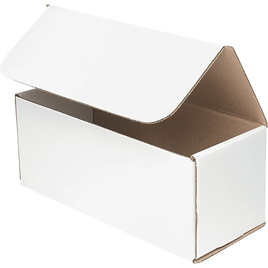 ICONEX/NCR – Boîte en carton ondulé, 10 po x 4 po x 4 po, blanc, (9435-0911)