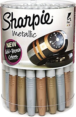 Sharpie® Metallic Fine Point Permanent Markers, Assorted, 36/pk (1835492)