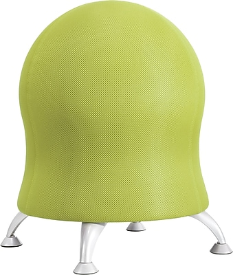 Safco Grass Plastic Ball Office Chair, Grass Green, Armless Arm (4750GS)
