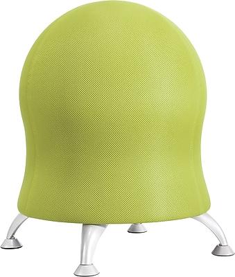 Safco Grass Green Four-Leg Fabric Ball Chair, Armless