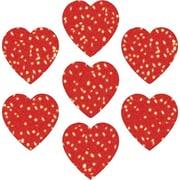 Carson-Dellosa Hearts Red Dazzle Stickers, 105/pack (2946)