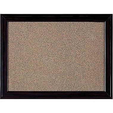 Quartet® Cork Bulletin Boards, Espresso Frame, 36