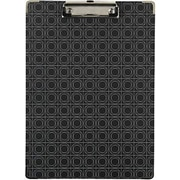 Staples® Fashion Clipboard, Geo Pattern, Black