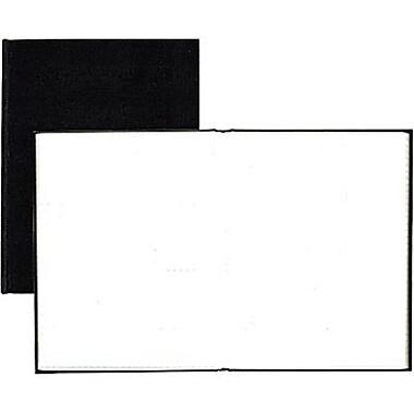 Blueline® - Cahier de notes à couverture rigide, 9 1/4 po x 7 1/4 po, noir, 192 pages, feuilles unies