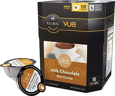 Keurig Vue Pack Cafe Escapes Milk Chocolate Hot Cocoa, 16/Pack 982544
