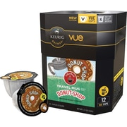 Keurig® Vue® Pack Coffee People® Original Donut Shop, Regular, Travel Mug, 12/Pack