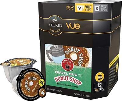 Keurig® Vue® Pack Coffee People® Original Donut Shop, Regular, Travel Mug, 12/Pack