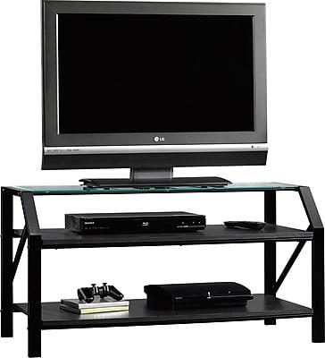 Sauder Beginnings Panel TV Stand, Black 103956