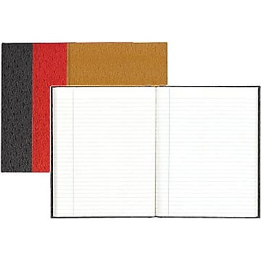 Blueline® – Cahier de rédaction à couverture rigide de luxe, 9-1/4 po x 7 1/4 po, couleurs variées genre autruche, 150 pag