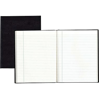 Blueline® - Cahier de notes de direction, couverture rigide noire genre lézard, 8 po x 5 po, 150 pages