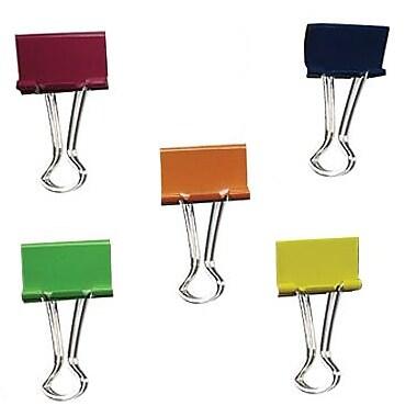 Staples® – Pinces relieuses, moyennes, 1 1/4 po, couleurs variées, pot/24