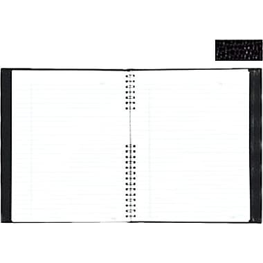 Blueline® - Cahier Notepro à couverture rigide, 10-3/4 po x 8-1/2 po, noir genre lézard, 150 pages