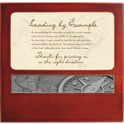"""Baudville® Wood Clock with Metal Accent, """"Key To Success"""""""