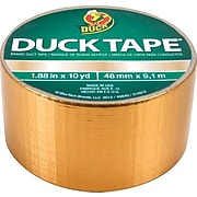 """Duck Tape Brand Duct Tape, Gold, 1.88""""x 10 Yards"""