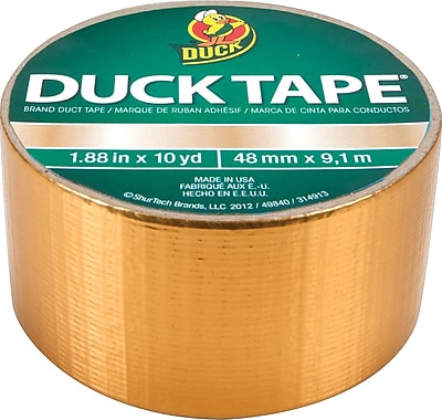 Duck Tape® Brand Duct Tape, Gold, 1.88