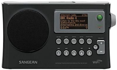 Sangean® Black WiFi Radio w/ Internet Radio/Network Music Player/USB/FM-RDS Digital Receiver