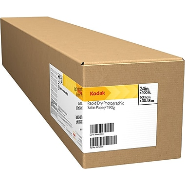 Kodak Rapid-Dry Photographic Satin Wide Format Paper, 24