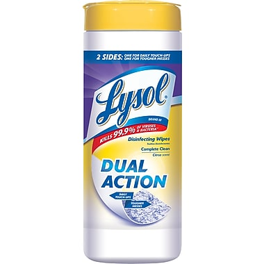 Lysol® DUAL ACTION™ Disinfecting Wipes