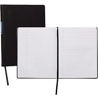 Cambridge® - Cahier de notes commercial à onglets, 9 1/2 po x 7 1/4 po, bleu, 160 pages