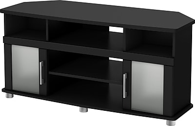 South Shore City Lights Corner TV Stands, Black