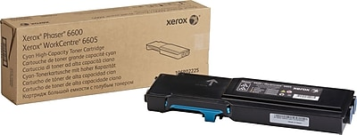 Xerox Toner Cartridge, Cyan, High Yield (106R02225)