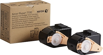 Xerox Phaser 7100 Magenta Toner Cartridges (106R02603), 2/Pack