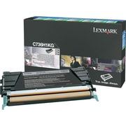 Lexmark C736H1KG Black Toner Cartridge, High-Yield, Return Program (C736H1KG)