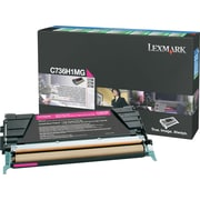 Lexmark C736H1MG Magenta Toner Cartridge, High-Yield, Return Program (C736H1MG)