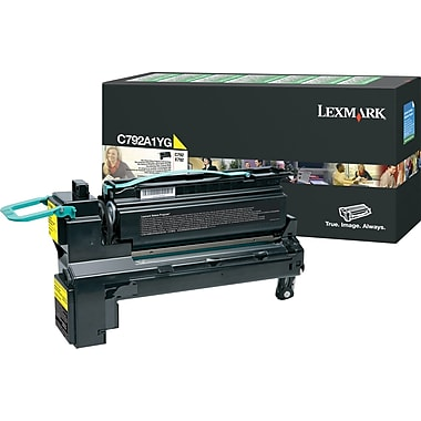 Lexmark C792A1YG Yellow Toner Cartridge, Return Program (C792A1YG)