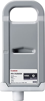 Canon PFI-703MBK Matte Black Ink Cartridge (2962B001AA), High Yield