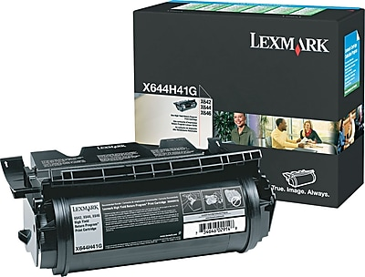 Lexmark X642/644 Black Toner Cartridge (X644H41G), High Yield Return Program
