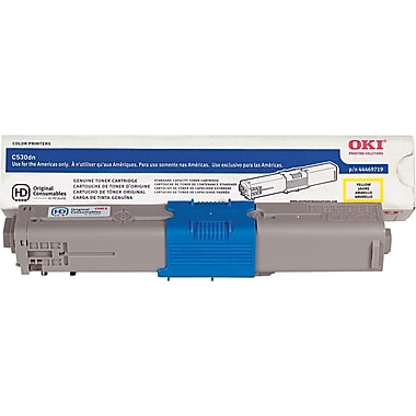 Okidata Yellow Toner Cartridge (44469719), High Yield