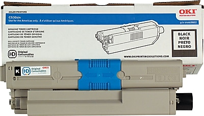 Okidata Black Toner Cartridge (44469802), High Yield