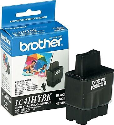 Brother Ink Cartridge, LC41 (LC41HYBK), High Yield, Black