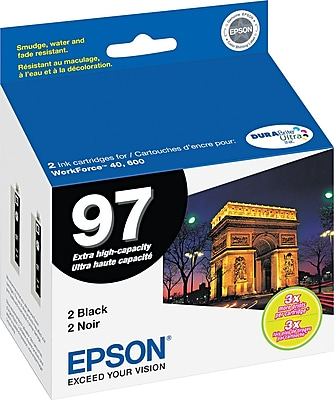 Epson® (T097120D2) Black Ink Cartridge, Extra High Yield, 2/pack