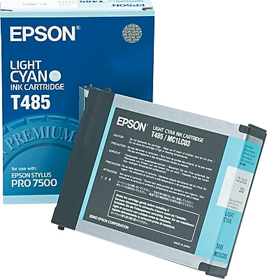 Epson Ink Cartridge, T485 (T485011), Light Cyan