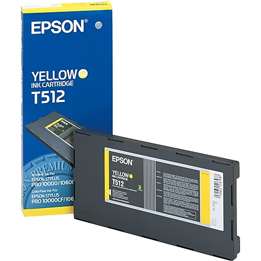 epson t512 yellow archival ink cartridge t512011 staples. Black Bedroom Furniture Sets. Home Design Ideas