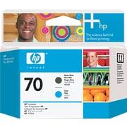 HP 70 Matte Black/Cyan Printhead (C9404A)